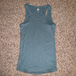 Teal fitted tank top